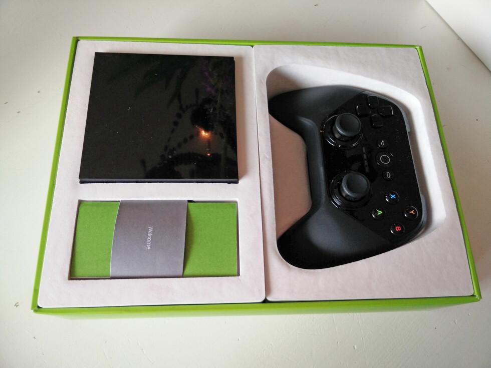 KAN SPILLE: Android TV er også ment som en spillplattform, der du kan spille med en vanlig håndkontroll.