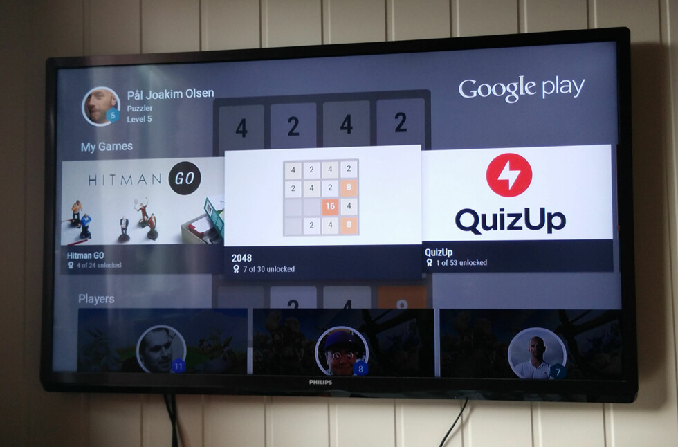 SPILL: I tillegg til å spille spill på Android TV, kan du også se progresjonen i andre spill du spiller, hva venner spiller etc.