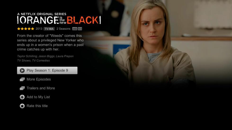 NETFLIX: Netflix har allerede en beta-app ute til Android TV. Dessverre fikk vi den ikke til å fungere, men slik skal det se ut.