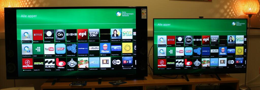 KREVER SIN PLASS: Store sidemonterte høyttalere gjør at TV-en blir massiv i stua. Foto: ØYVIND PAULSEN