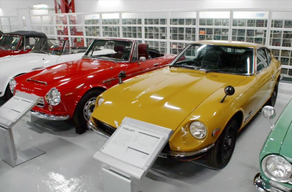 KOMPLETT: Alle bilene Nissan har produsert siden  1933 finner du her.  Foto: NISSAN/TELLUSWORKS