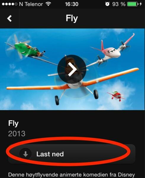 ALT SOM KAN LASTES NED ER MARKERT: Trykk last ned, så har du den i 30 dager på din iPhone/iPad eller Android-enhet. Foto: ØYVIND PAULSEN