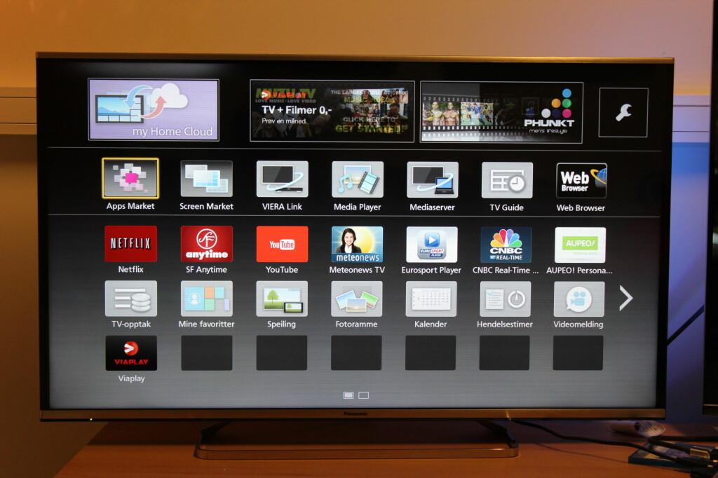 SMART? Panasonic tilbyr stadig flere TV-apper, men HBO savnes fortsatt. Foto: ØYVIND PAULSEN