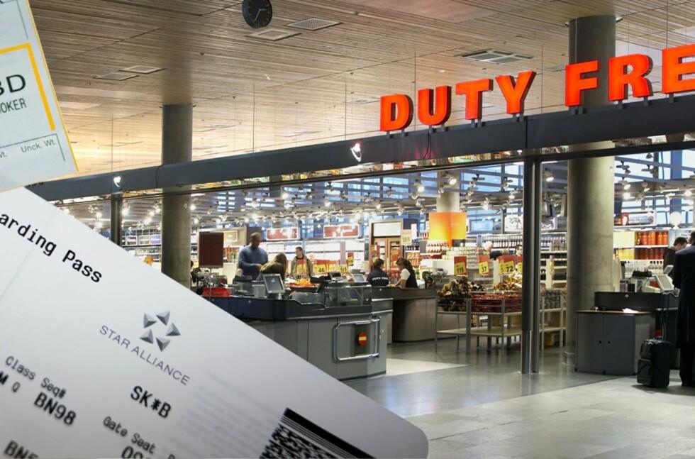 KJØP OM BORD: Vi har sjekket prisene på flyenes ombord-butikker og sammenliknet med taxfreebutikken på OSL. I de fleste tilfellene er det billigere å handle i lufta. Foto: Travel Retail Norway/Per Ervland