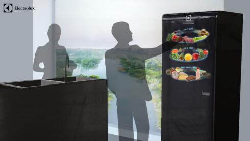FÅ OVERSIKT: Et digitalt kjøleskap forteller deg hva som bør spises først. Foto: Electrolux Design Lab