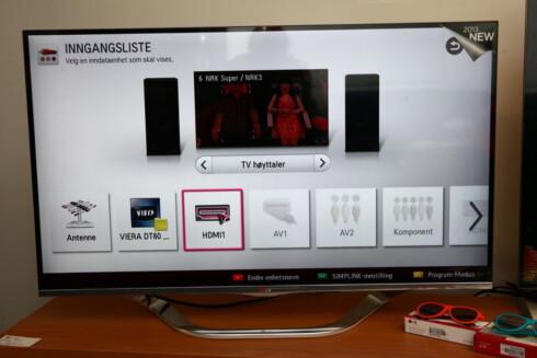 EKSTRA HØYTTALER: Hvis ikke TV-en oppdager lydplanken din, må du si fra til den at du ikke skal bruke de innebygde høyttalerne. Foto: PER ERVLAND