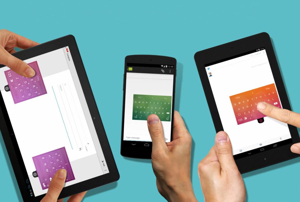 GRATIS: Mange synes Swiftkey er det beste Android-tastaturet, og nå har appen blitt helt gratis. Foto: SWIFTKEY