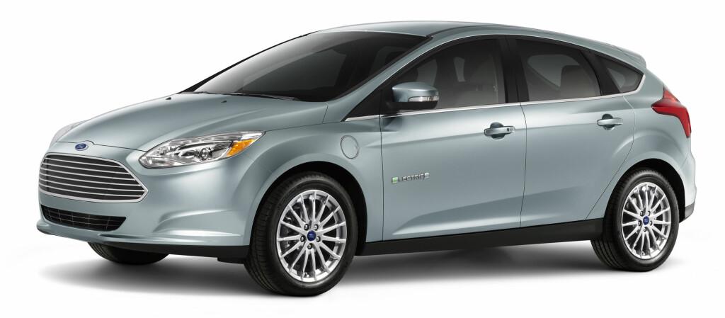<b>HALVHJERTET FORSØK:</b> Ford Focus Electric er selskapets foreløpig beste forsøk på å tilnærme seg en noenlunde miljøvennlig bilpark. Foto: FORD