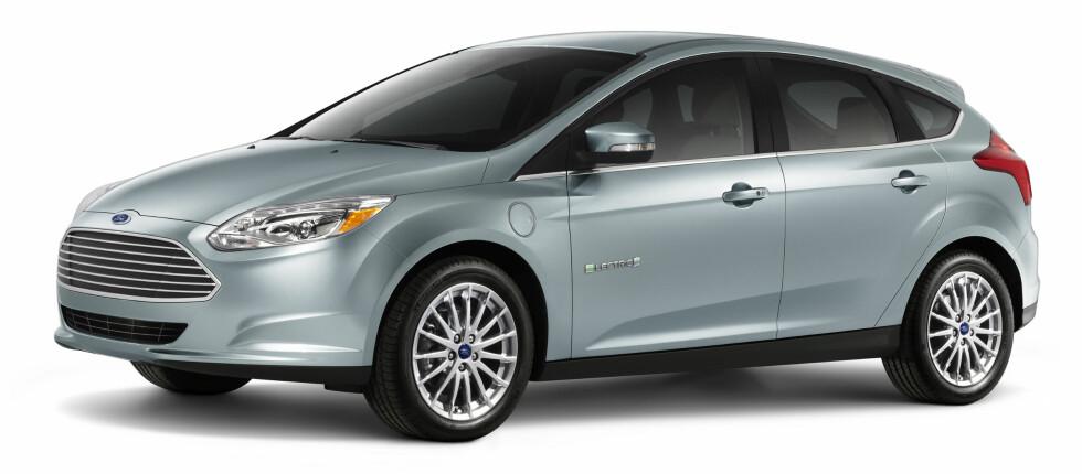 HALVHJERTET FORSØK: Ford Focus Electric er selskapets foreløpig beste forsøk på å tilnærme seg en noenlunde miljøvennlig bilpark. Foto: FORD