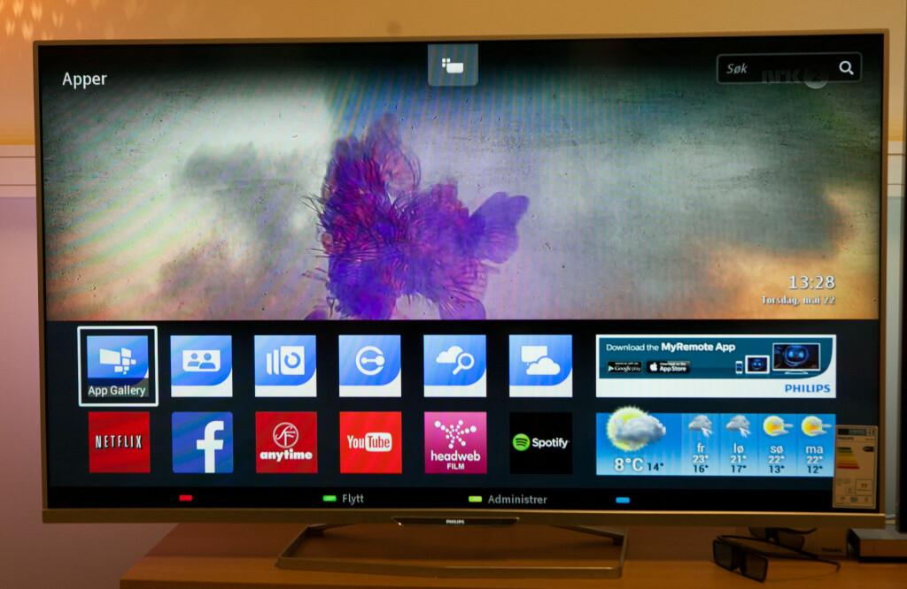 SMART-TV: Endelig begynner også Philips å få SmartTV-innhold.  Foto: PER ERVLAND