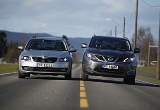 4x4-duell: Nissan Qashqai vs. Skoda Octavia