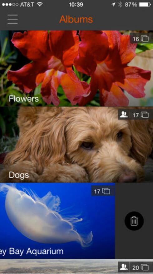 BARE I USA: Eye-fi Mobi-appen til iOS er kun tilgjengelig fra den amerikanske versjonen av App Store.