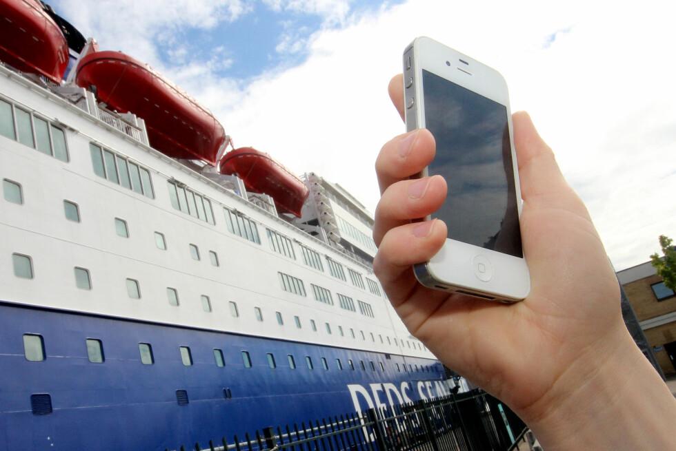 TRÅDLØST NETT: Skal du på fergetur, lønner det seg å kjøpe tilgang til trådløst nett på båten om du vil mobilsurfe. Foto: OLE PETTER BAUGERØD STOKKE
