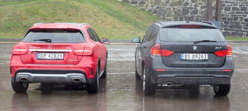 Mercedes GLA mot BMW X1