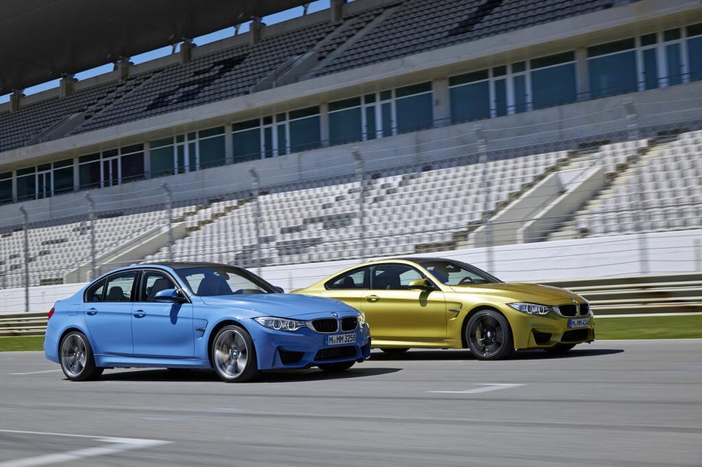 DELER KOMPONENTER: M3 og M4 deler enkelte komponenter med M5. Foto: BMW