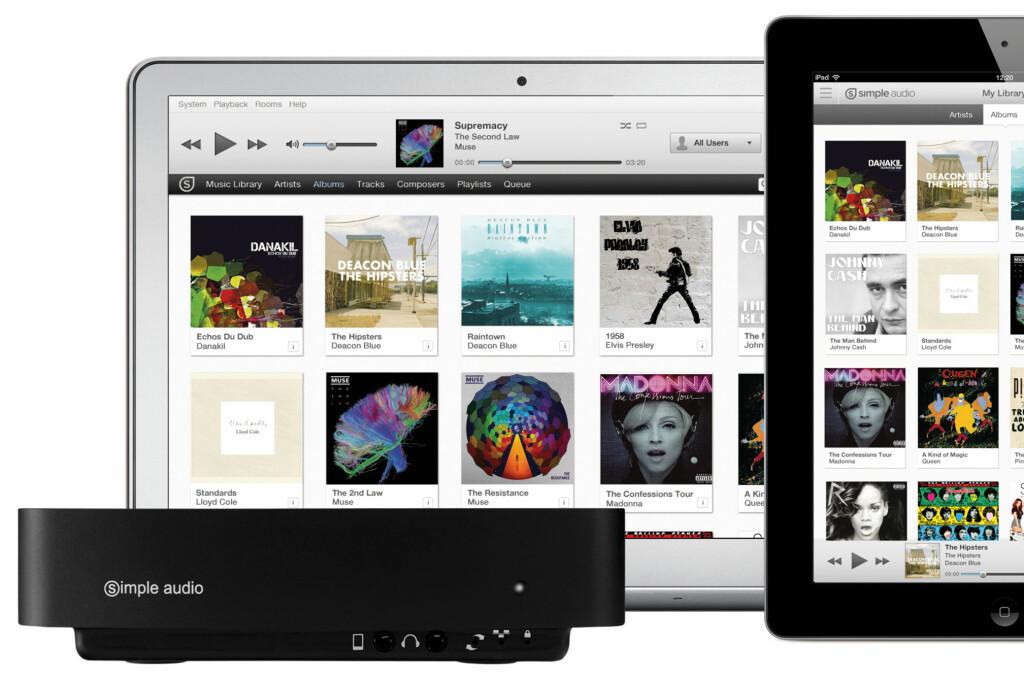 <B>ENKELT:</B> Simple Audio leverer det merkenavnet lover: Enkel musikkstrømming av lokalt innhold og musikk fra nettet. Foto: Simple Audio