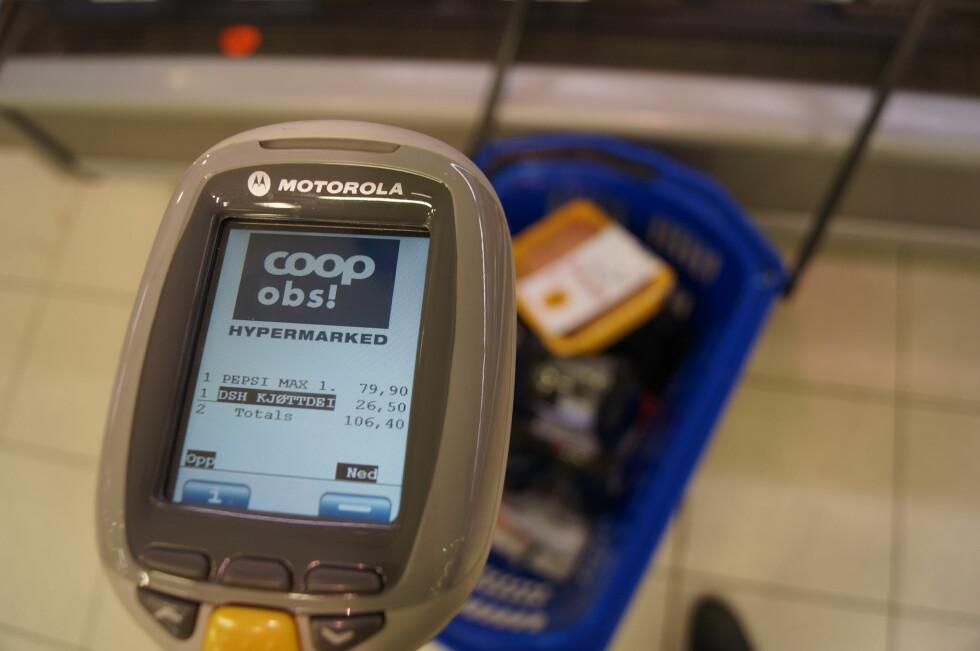 HOLD ET ØYE MED PENGEBRUKEN: ShopExpress hjelper deg med å følge med på totalsummen til enhver tid. Foto: MAGNUS JOHANSEN