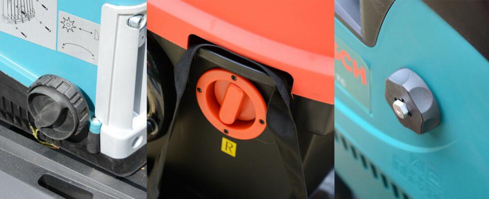 Makita til venstre, Black&Decker i midten, og Bosch til høyre. Foto: BRYNJULF BLIX