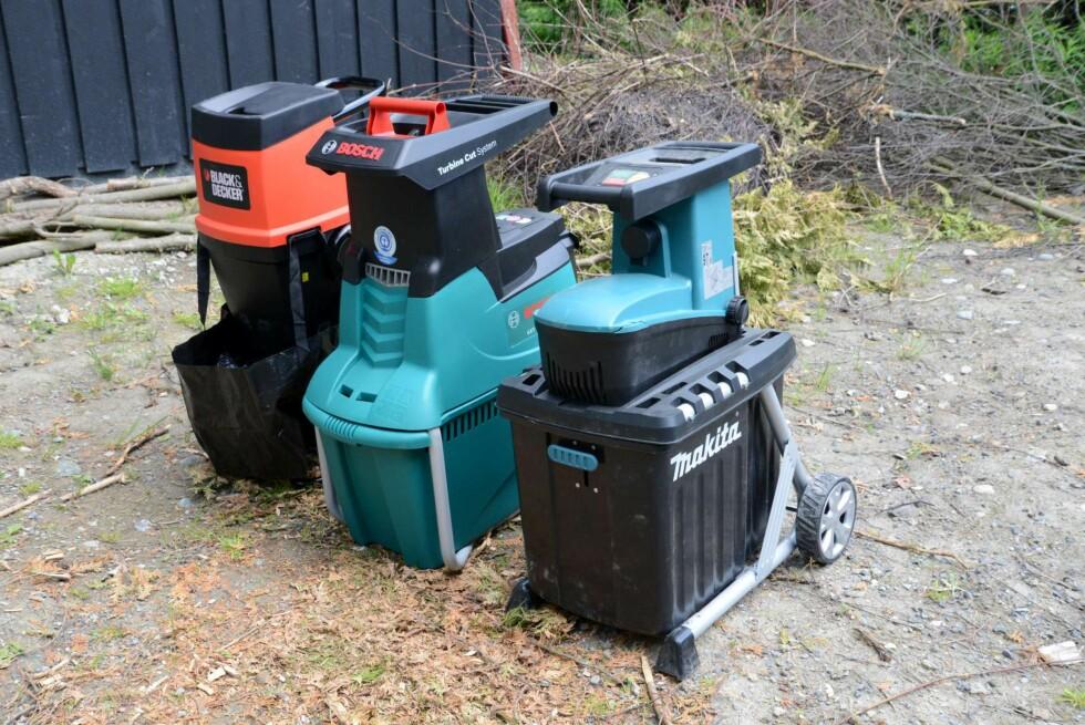 LA MASKINENE GJØRE JOBBEN: En kvistkvern kan spare deg for mange turer til hageavfalls-senteret. Men hvordan virker de? Foto: BRYNJULF BLIX