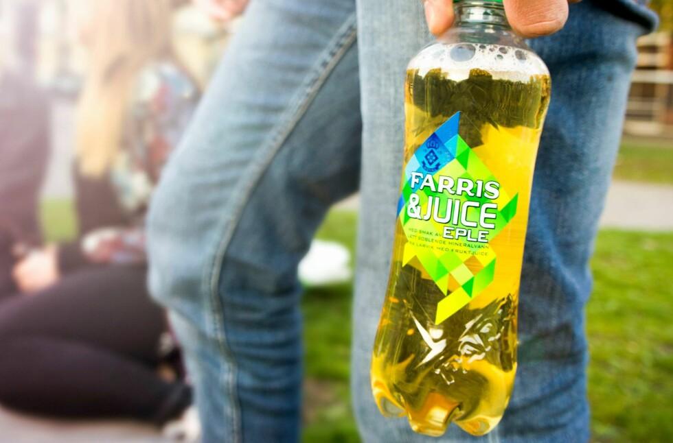 TRENDY: Drikker som består av kullsyreholdig vann og juice kan virke som en trend, nå som Farris & Juice hiver seg inn i konkurransen med Tines Noisy.  Foto: RINGNES