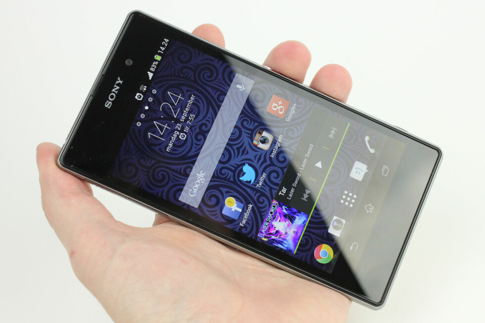 BILLIGERE: Sony Xperia Z1 er bare et drøyt halvår gammel, men har falt vesentlig i pris siden den ble lanset. Foto: Ole Petter Baugerød Stokke