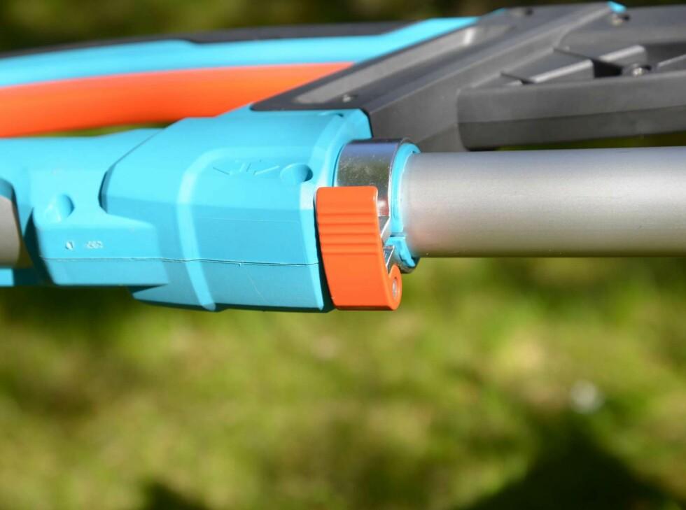 Solide festeklemmer til justering av lengden. Foto: BRYNJULF BLIX