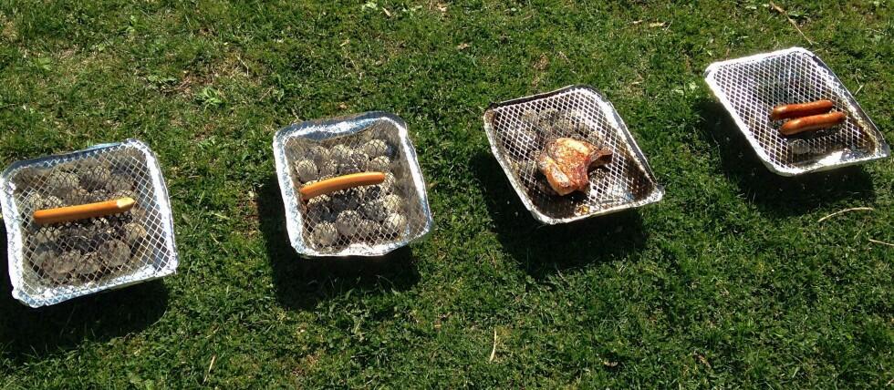 FIKSER BIFFEN: Kun halvparten av de fire grillene vi testet var varme nok til at vi fikk gjennomstekt en kotelett.
