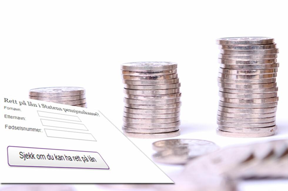 LAV RENTE: Boliglånsrenten til Statens pensjonskasse ligger godt under rentene til standard boliglån. Men bare de med jobb i staten har mulighet til å bli kunder. Foto: COLOURBOX.COM