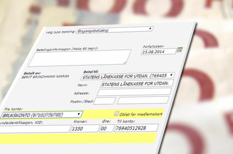 <strong><b>FORFALL:</strong></b> Lånekassen innfører betaling av studielån med månedlige forfall. Betaler du for sent, er purregebyret på 280 kroner på hver faktura. Men det er ikke det eneste som kan bli dyrere om du ikke er obs. Foto: COLOURBOX.COM