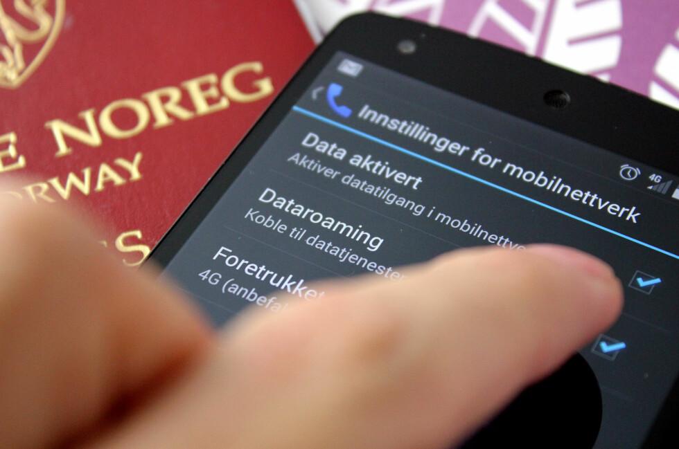 GJØR DET NÅ: Velg bort dataroaming på mobilen din, og du kan være trygg på å aldri motta skrekkregninger etter utelandsferier.  Foto: OLE PETTER BAUGERØD STOKKE