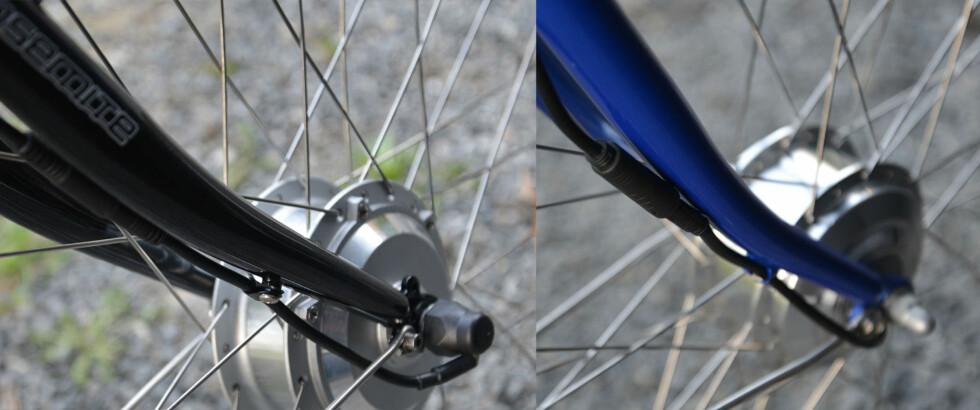 Begge syklene har forhjulsdrift. Foto: BRYNJULF BLIX