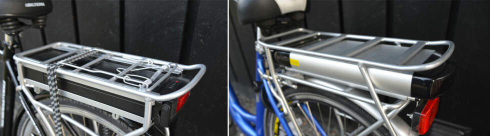 Bagasjebrett med klemme og strikk fra Biltema. Ikke på sykkelen fra Clas Ohlson. Foto: BRYNJULF BLIX