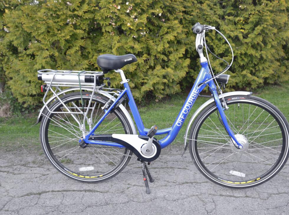 Off Course - el-sykkel fra Clas Ohlson. Foto: BRYNJULF BLIX