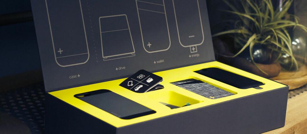 UTSKIFTBART DEKSEL: Trenger du et stativ til mobilen, eller kanskje ekstra strøm? Med Case+ kan du få flere funksjoner med samme deksel. Foto: LOGITECH