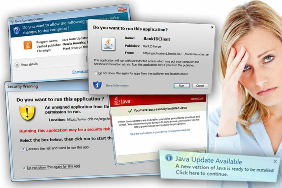 SLITER: Kundene sliter med å bruke Java i nettbanken, og bankene sliter med å hjelpe kundene med problemene.  Foto: Ole Petter Baugerød Stokke/All Over Press