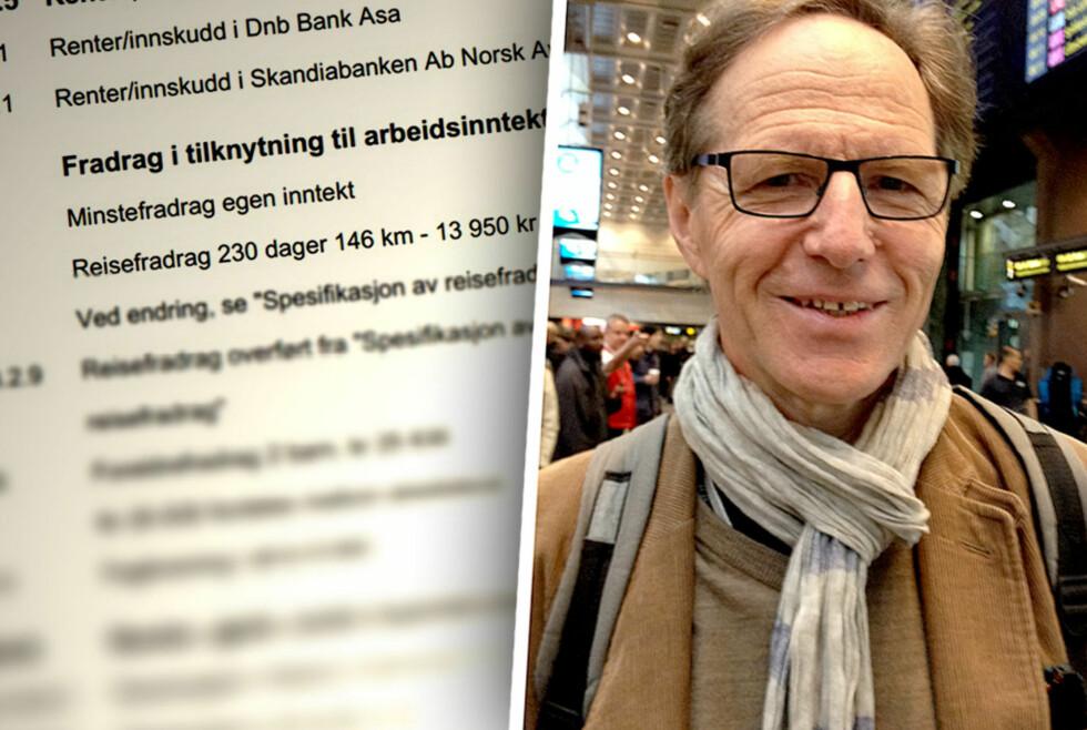 REISEFRADRAG: Tor Grønvik (62) er an ev flere nordmenn som kan føre opp reisefradraget på selvangivelsen, på grunn av lang reisevei til og fra jobb. Foto: BERIT B. NJARGA