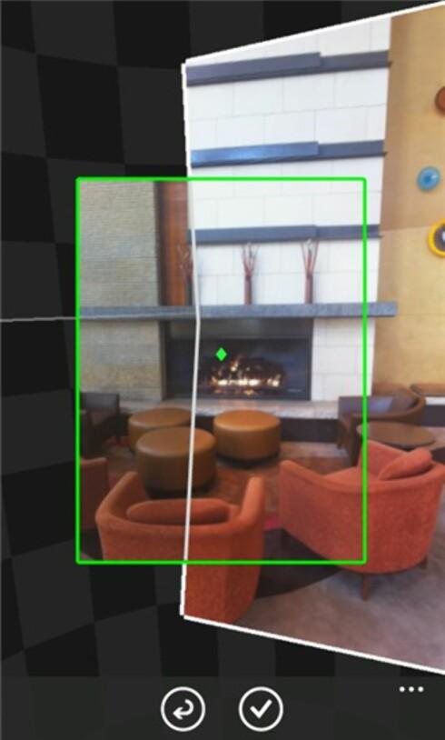 SLIK GJØR DU: Med Photosynth beveger du kameraet rundt i alle retninger for å lage et sfærisk panoramabilde.