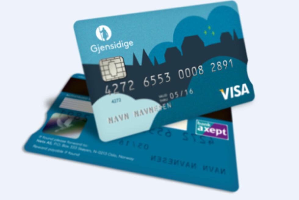 INGEN ID: Gjensidige har siden desember i fjor kun tilbudt bankkort uten legitimasjon på baksiden.  Foto: GJENSIDIGE
