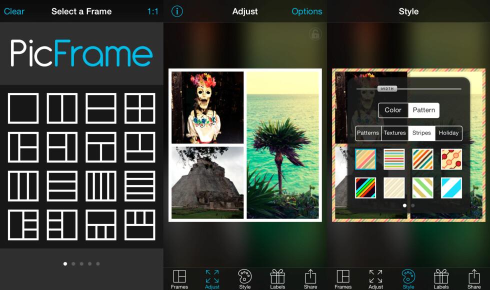 PICFRAME: Har et enkelt og intuitivt brukergrensesnitt. Foto: KIRSTI ØSTVANG
