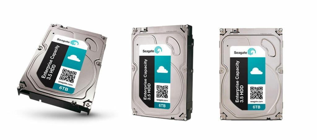 """<B>IKKE FOR ALLE:</B> Seagate har laget en harddisk med imponerende spesifikasjoner. Men selv om den har vanlig 3,5"""" størrelse er den ikke laget for deg og meg. Foto: SEAGATE"""