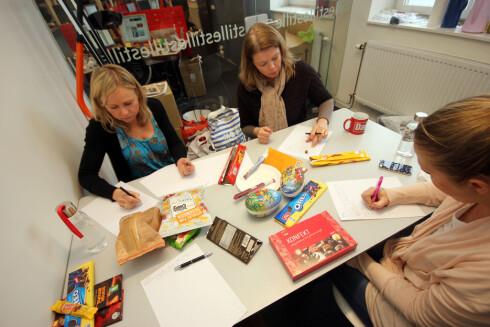 Smakspanelet, her representert ved tre av fire medlemmer. Hovedkriteriene er SMAK! Foto: OLE PETTER BAUGERØD STOKKE