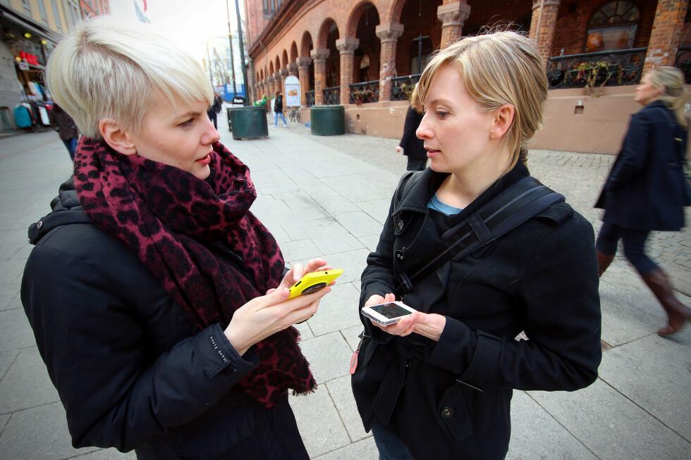 HVILKEN TELEFON? DinSides journalister ba om kjøperåd i ti kjedebutikker, for å se hvilken mobiltelefon vi fikk anbefalt. Foto: OLE PETTER BAUGERØD STOKKE