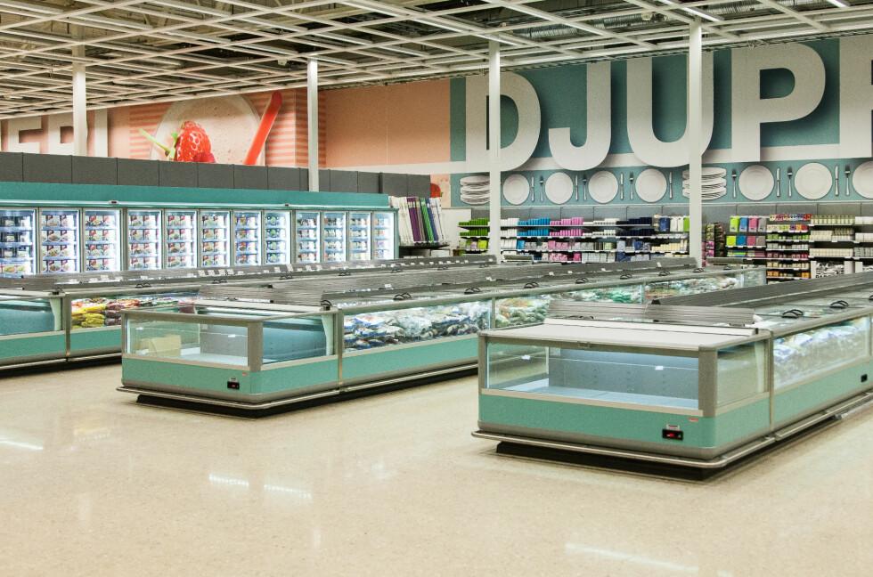 SATSER STORT MED 10.000 KVADRATMETER TIL LAVERE PRISER: Hypermat er en ny grensehandelsbutikk i Charlottenberg som lover å være billigere enn de andre grensehandelsbutikkene. Foto: HYPERMAT