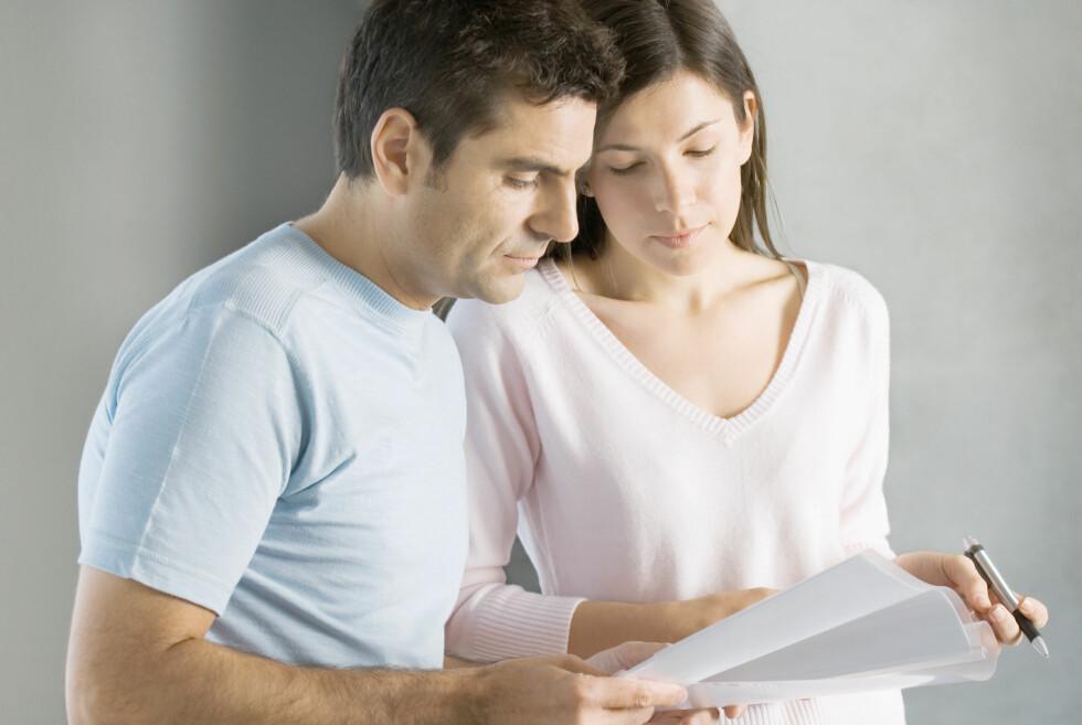 RENTER: Rentene du betaler på ulike lån, gir grunnlag for skattefradrag på selvangivelsen. Sørg for at samboeren din ikke stikker av med pengene du har krav på.  Foto: COLOURBOX
