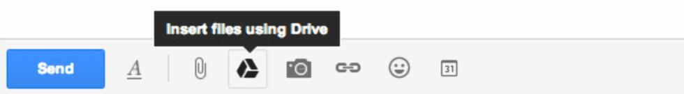 På Gmail kan du legge ved filer som er lagret på Google Disk.