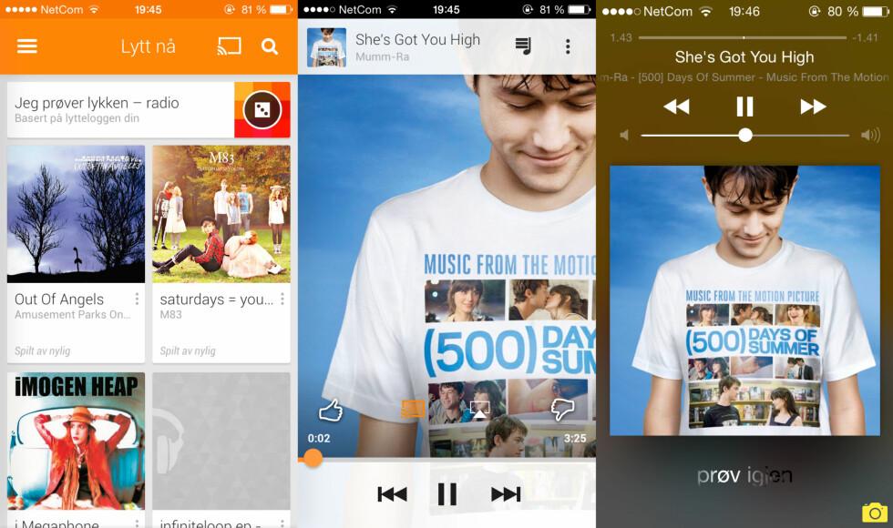 LETTVINT: Å streame musikk på Chromecast er enkelt med Googles musikktjeneste. På TV-skjermen vil du til enhver tid se hva som spilles. Det liker vi godt. Foto: KIRSTI ØSTVANG