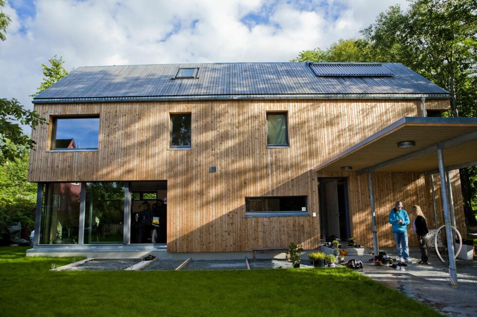 Oslos første passivhus sparer eieren for rundt 22.200 kWh i året.  Foto: Per Ervland