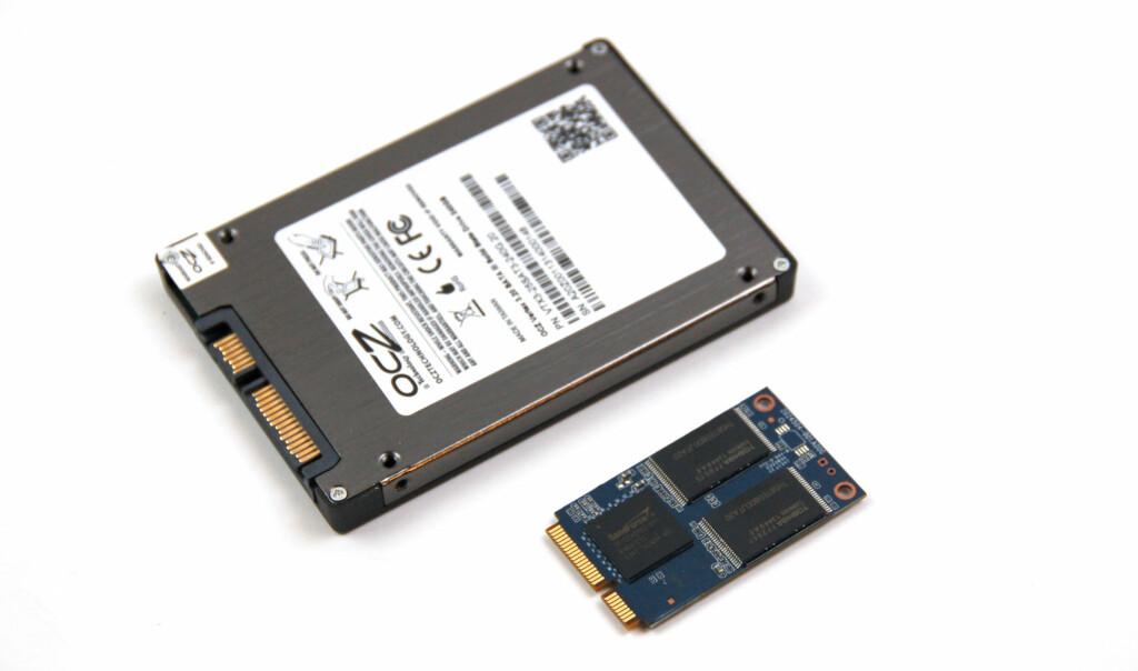 I motsetning til harddisker kan SSD-er lages bittesmå uten at det behøver å gå ut over kapasiteten. Foto: Brynjulf Blix