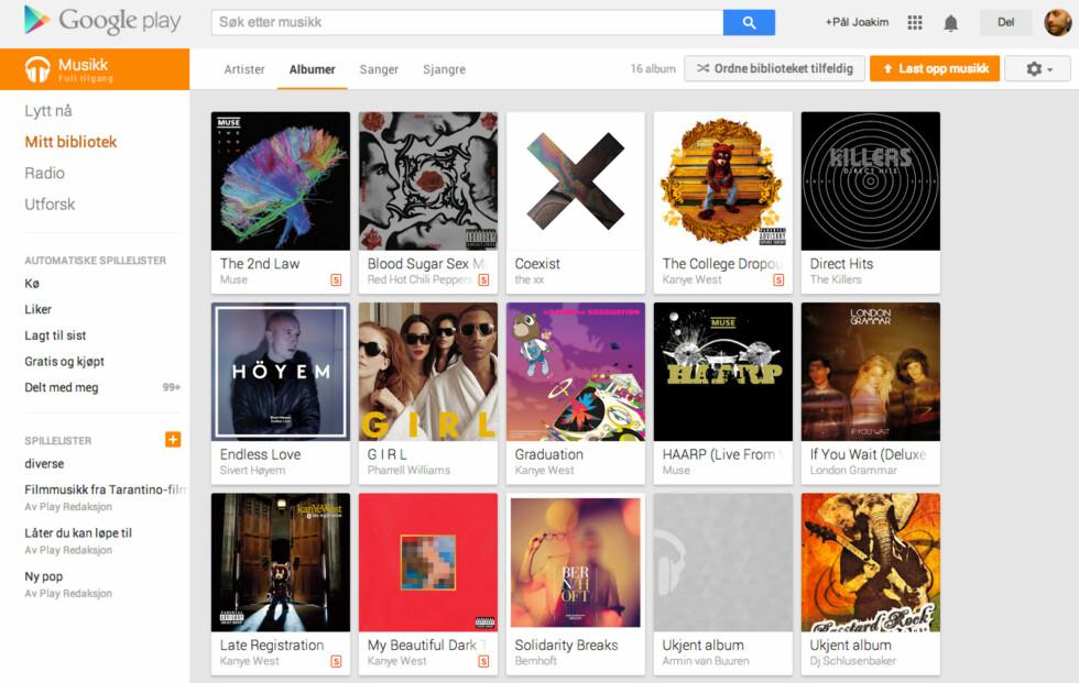 Du kan legge til sanger og album i ditt eget bibliotek uten at de trenger å være lagt inn i en spesiell spilleliste.