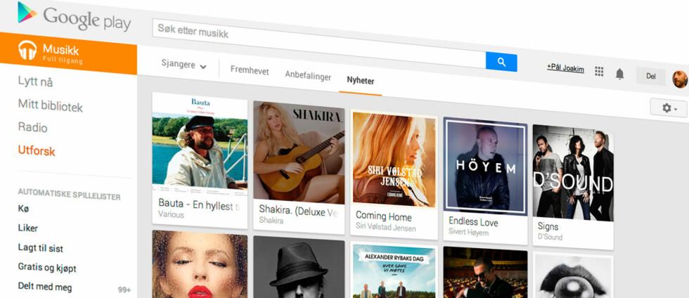 FULL TILGANG: Googles Spotify-konkurrent kan prøves gratis i én måned og gir tilgang på millioner av sanger. Foto: PÅL JOAKIM OLSEN